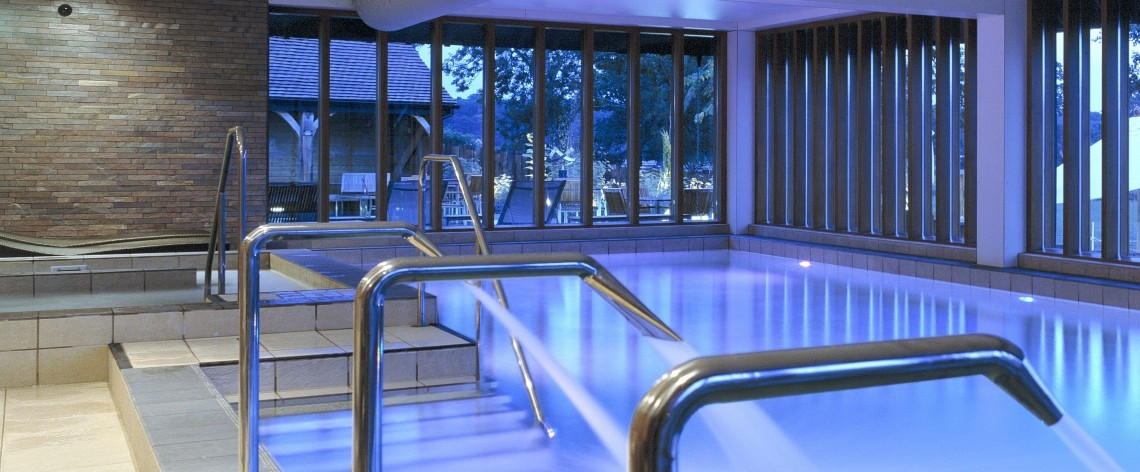 Indoor swimming pool at the spa at New Park Manor