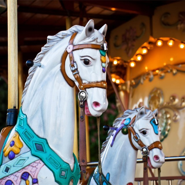 Carousel at Paultons Park near New Park Manor luxury family hotel