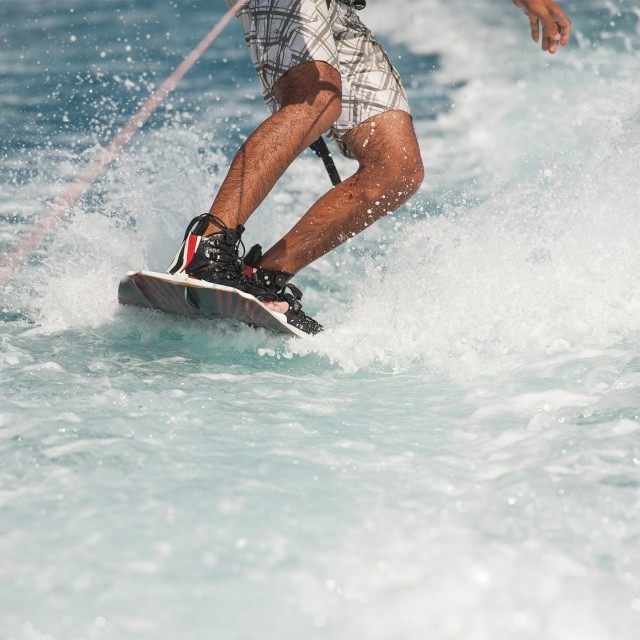 Wakeboarding at the New Forest Water Park near New Park Manor luxury family hotel