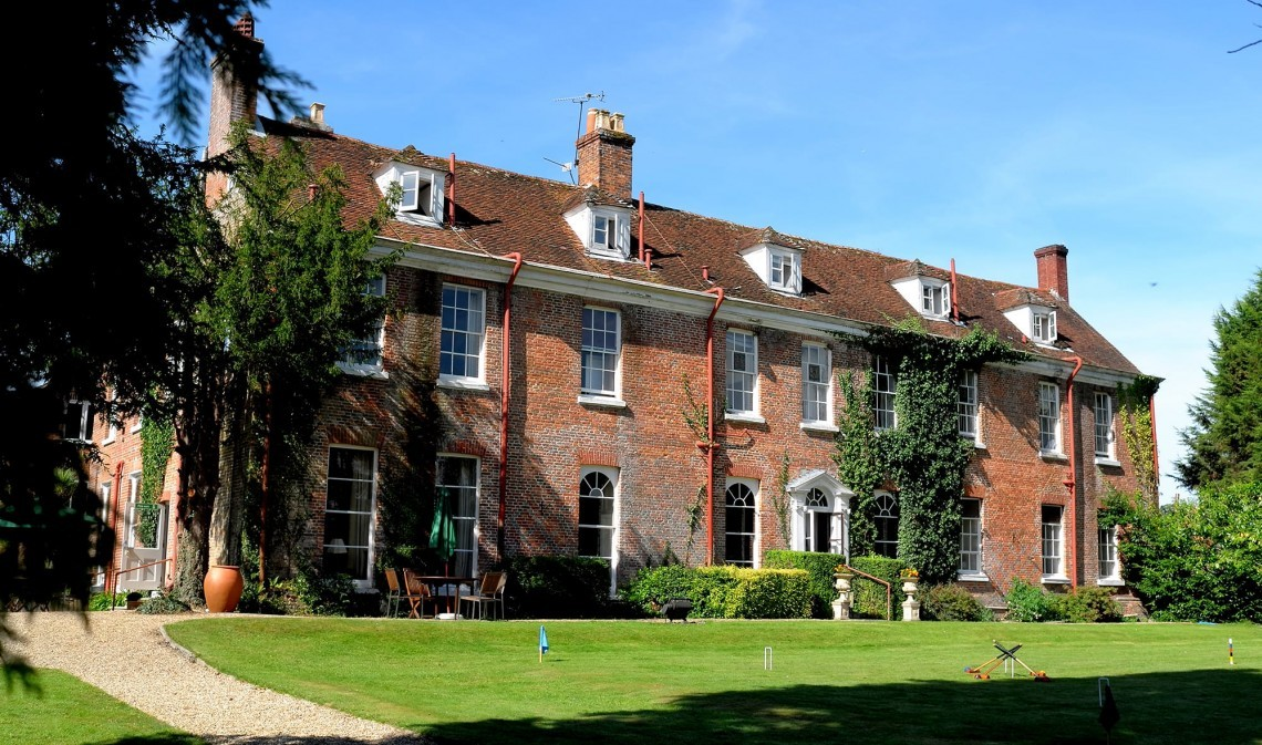The historic New Park Manor, a stately home and hotel in Hampshire