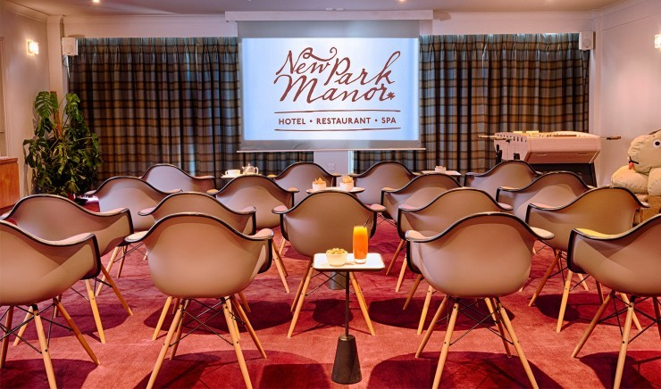 The cinema at New Park Manor hotel