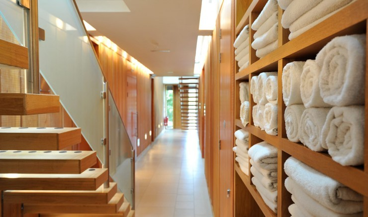 Towels and robes at New Park Manor hotel spa