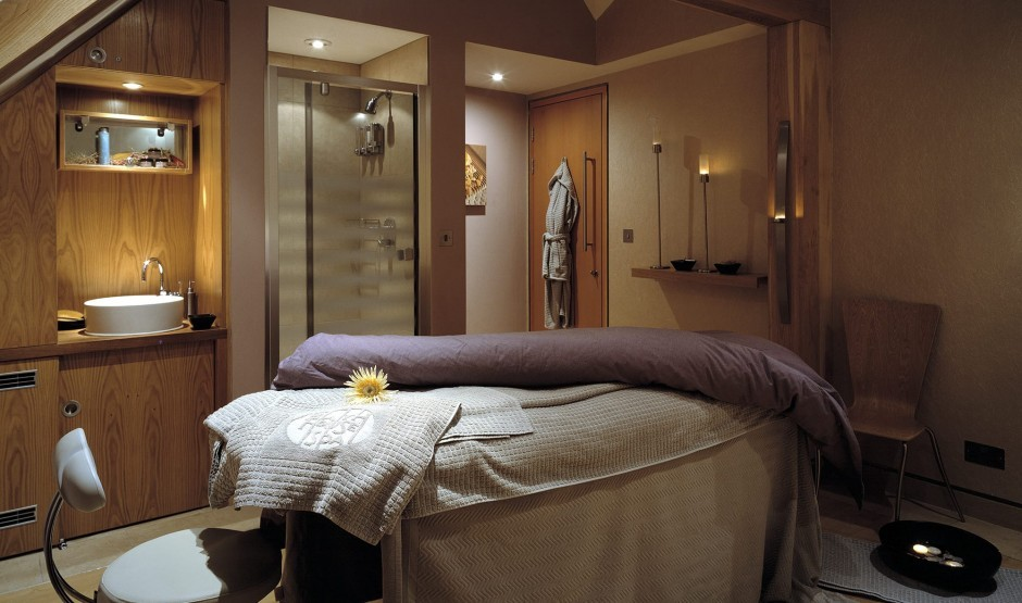 Treatment room in the New Forest spa at New Park Manor