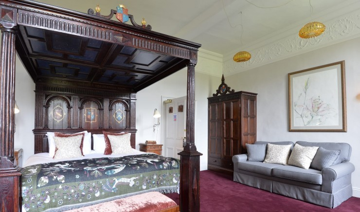 A four-poster bed at 17th century New Park Manor